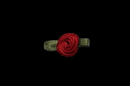 Red 15mm Satin Rose