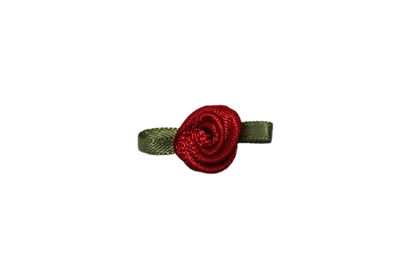 Red 15mm Satin Rose