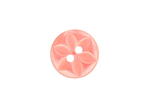 14mm Rose Pink Star Button