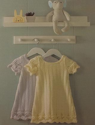 P1322 Dress in Peter Pan Baby Cotton DK