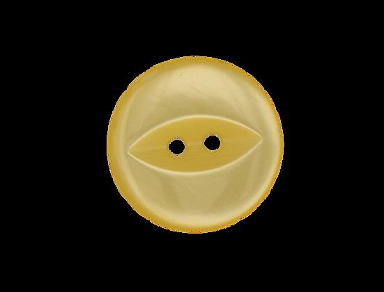 19mm Yellow Fish Eye Button