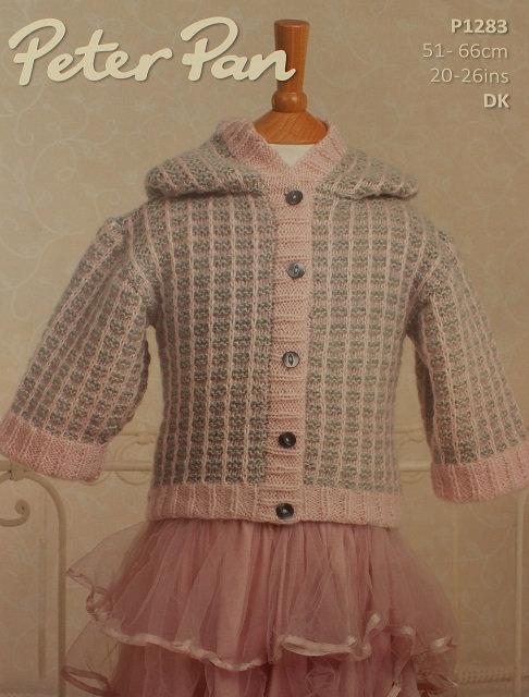 P1283 Hooded Jacket in Peter Pan Petite Fleur DK