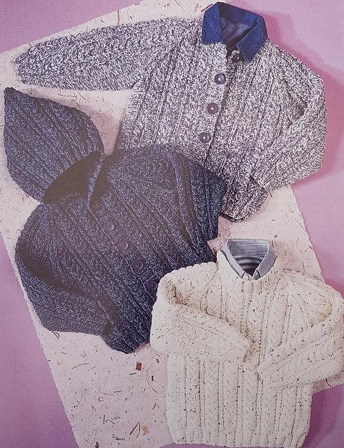 7192 Sweater & Jackets in Aran