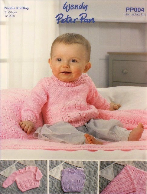 PP004 Sweater, Slipover & Blanket in Peter Pan DK
