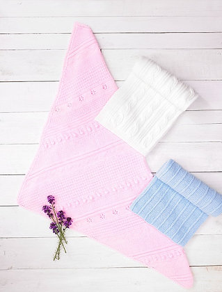JB689 Baby Blankets in James C Brett Baby DK