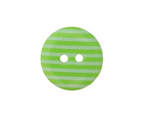 18mm Lime Green & White Stripe Button
