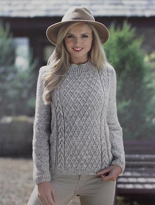 JB394 Sweater in James C Brett Misty DK