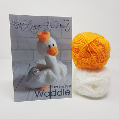 Waddle the Swan Knitting Kit