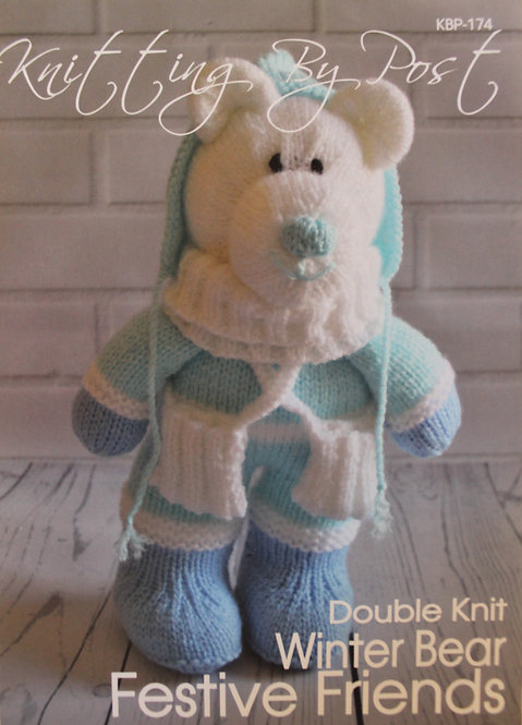 Winter Bear Festive Friends Knitting By Post Pattern KBP-174
