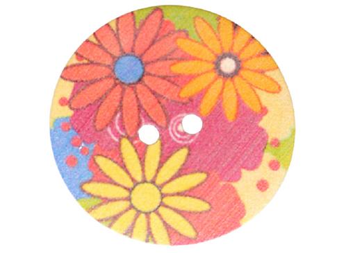 31mm Floral Button