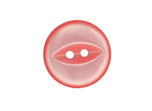 19mm Rose Pink Fish Eye Button