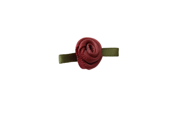 Dusky Rose 15mm Satin Rose
