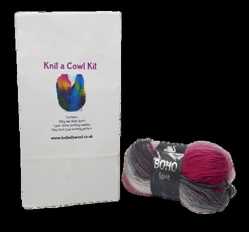 Cowl Knitting Kit in Boho Spirit Moonbeam