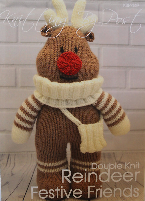 Reindeer Festive Friends Knitting By Post Pattern KBP-169