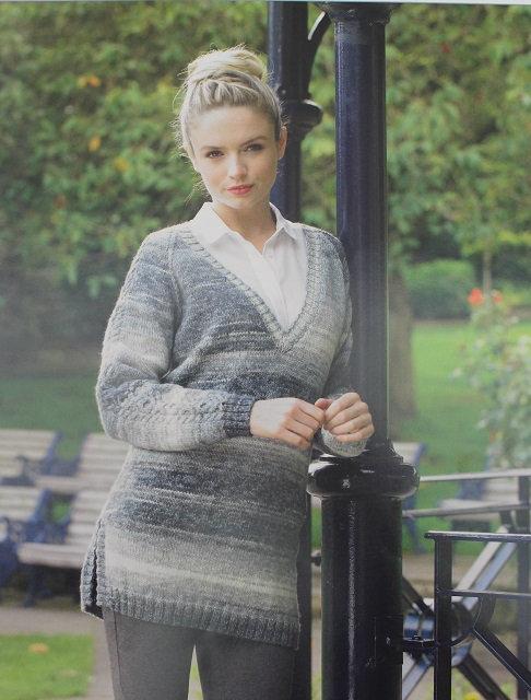 JB261 Sweater in James C Brett Woodlander DK