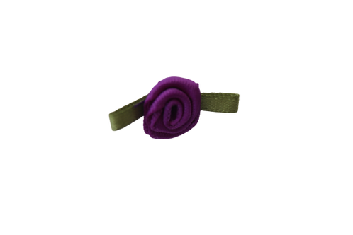 Purple 15mm Satin Rose