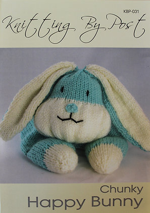Happy Bunny Pyjama Case Knitting Pattern KBP-031