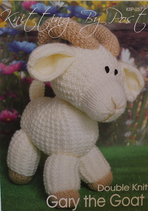 Gary the Goat Knitting By Post Pattern KBP-257