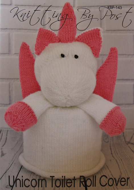 Unicorn Toilet Roll Cover Knitting By Post Pattern KBP-143