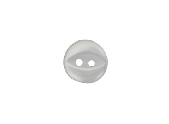 11mm White Fish Eye Button