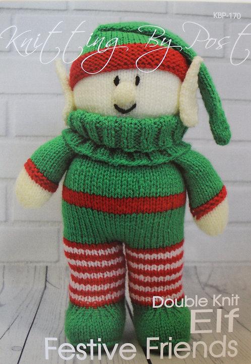 Elf Festive Friends Knitting By Post Pattern KBP-170