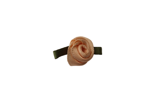 Peach 15mm Satin Rose