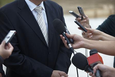 entrevista con los medios