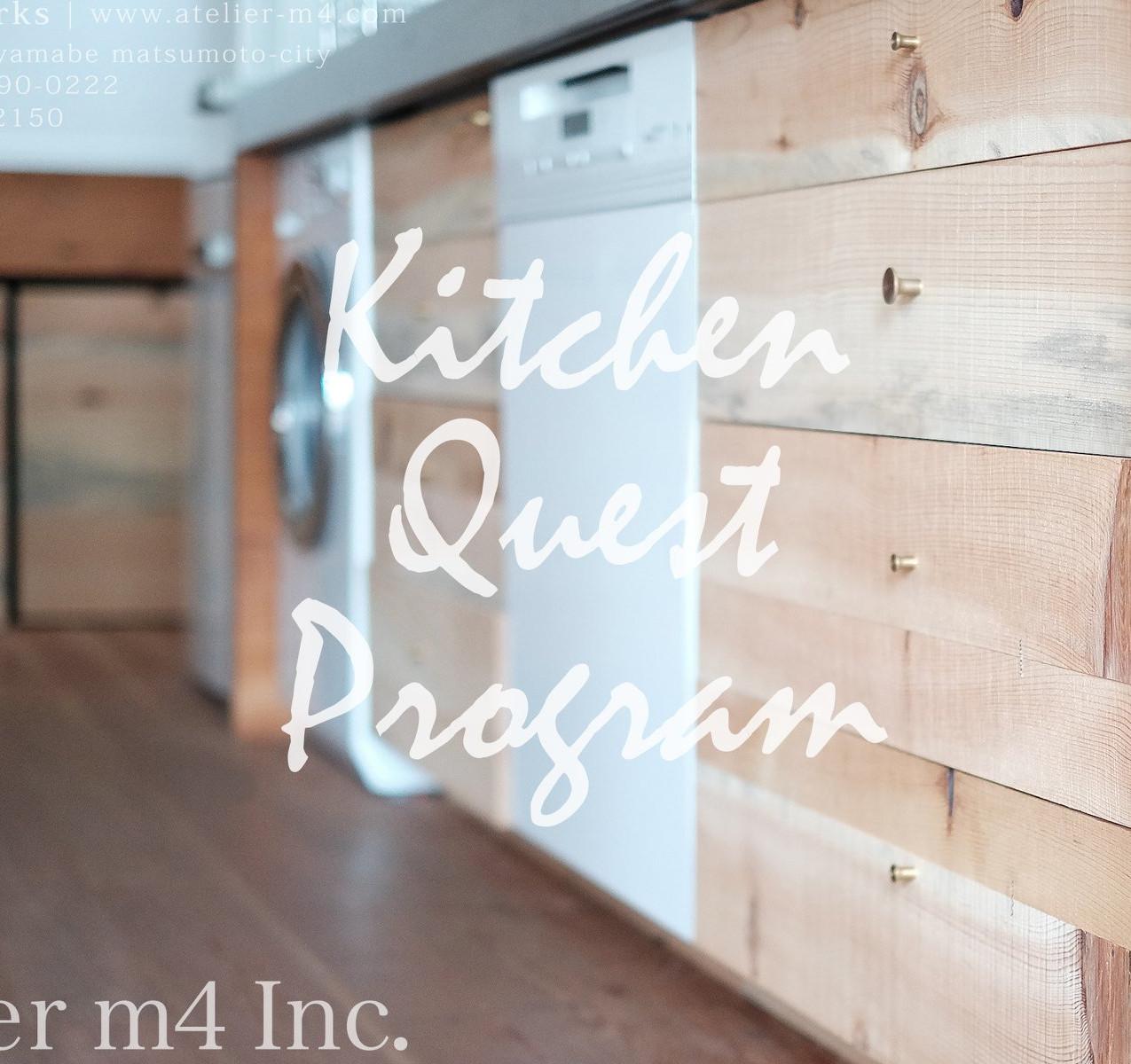 キッチン制作事例 / ステンレスワークトップ、赤松(安曇野市産)材、真鍮削り出しツマミ、ヘティヒ社製引出しレール等。