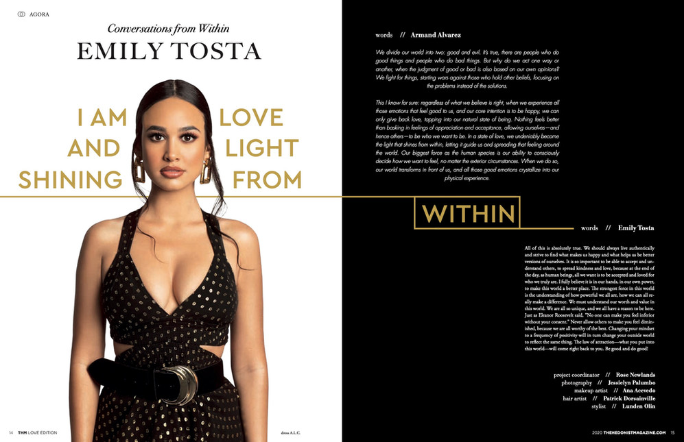 Actress Emily Tosta