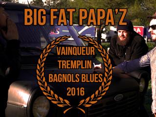 BIG FAT PAPA'Z vainqueur du tremplin Bagnols Blues 2016