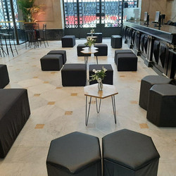 lounge base hexagonal