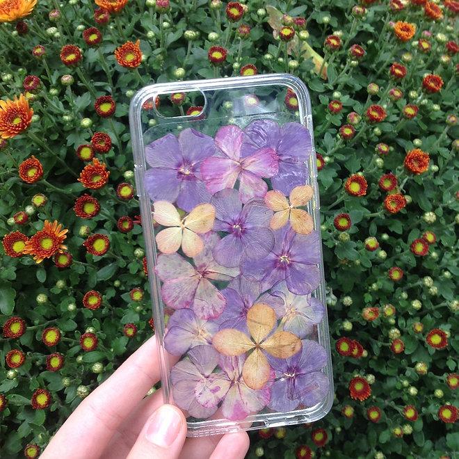 Чехол силиконовый с индивидуальным дизайном «Мятные цветы» для iPhone