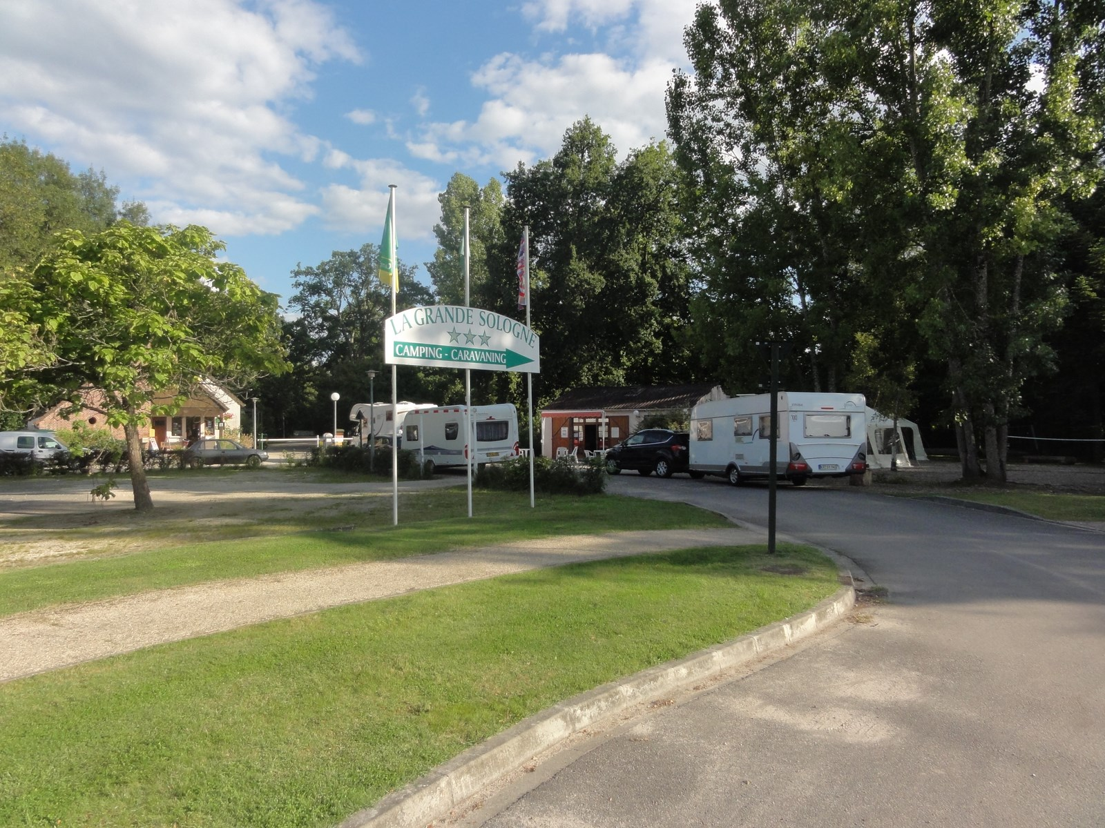 Entrance of camping La Grande Sologne