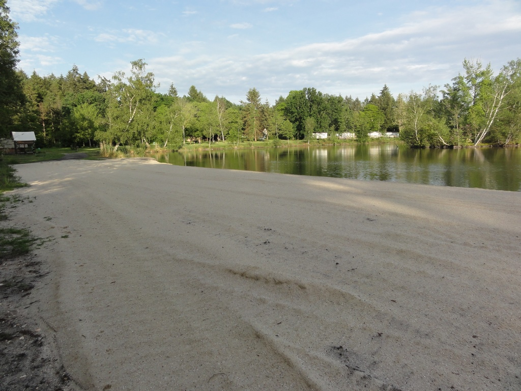 New in 2020 a sandy beach in camping la Grande Sologne