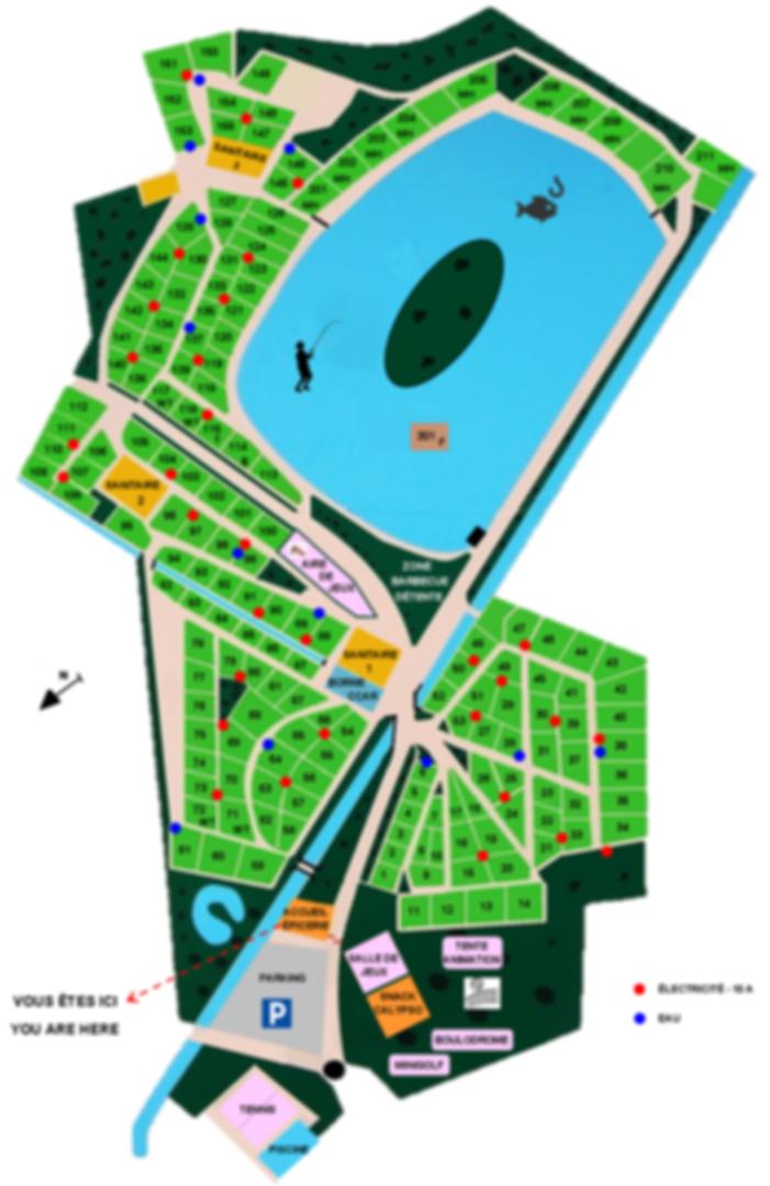 plan du campng la grande Solonge