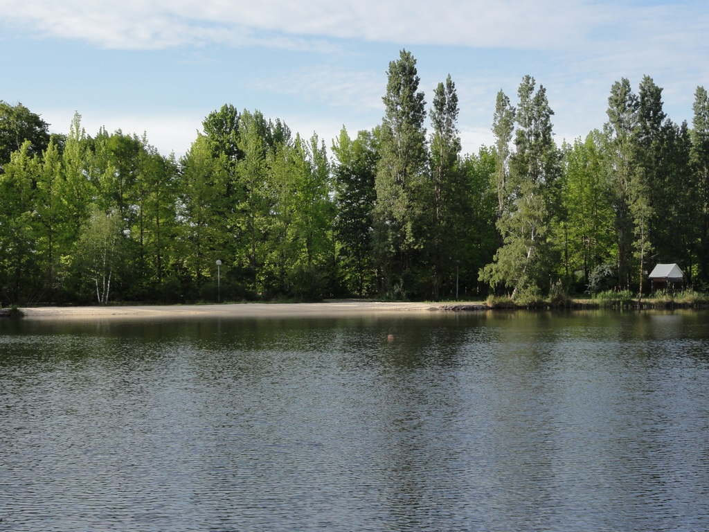 Swimming zone in camping La Grande Sologne