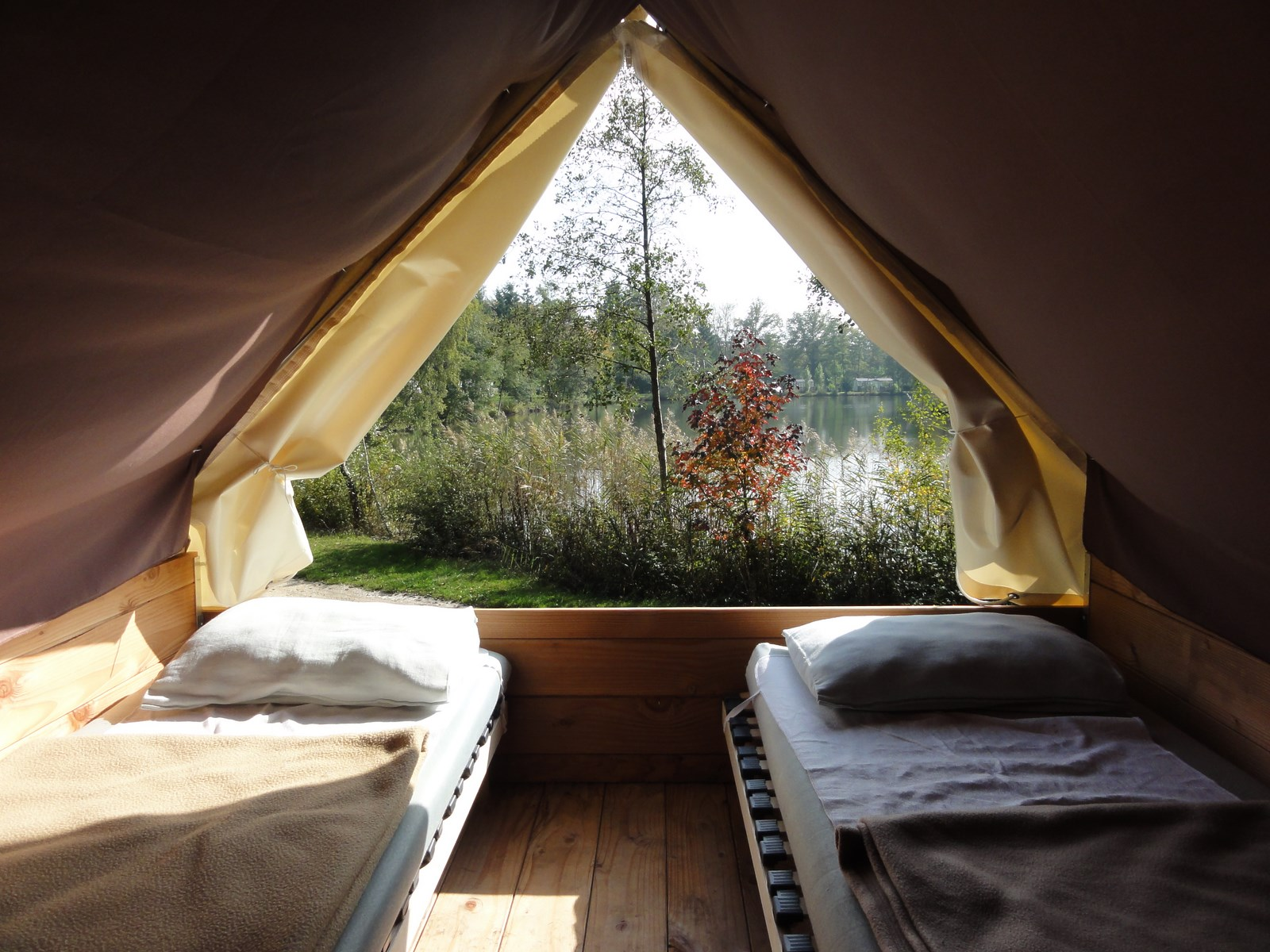 View from the bedroom of the Bivouac tent