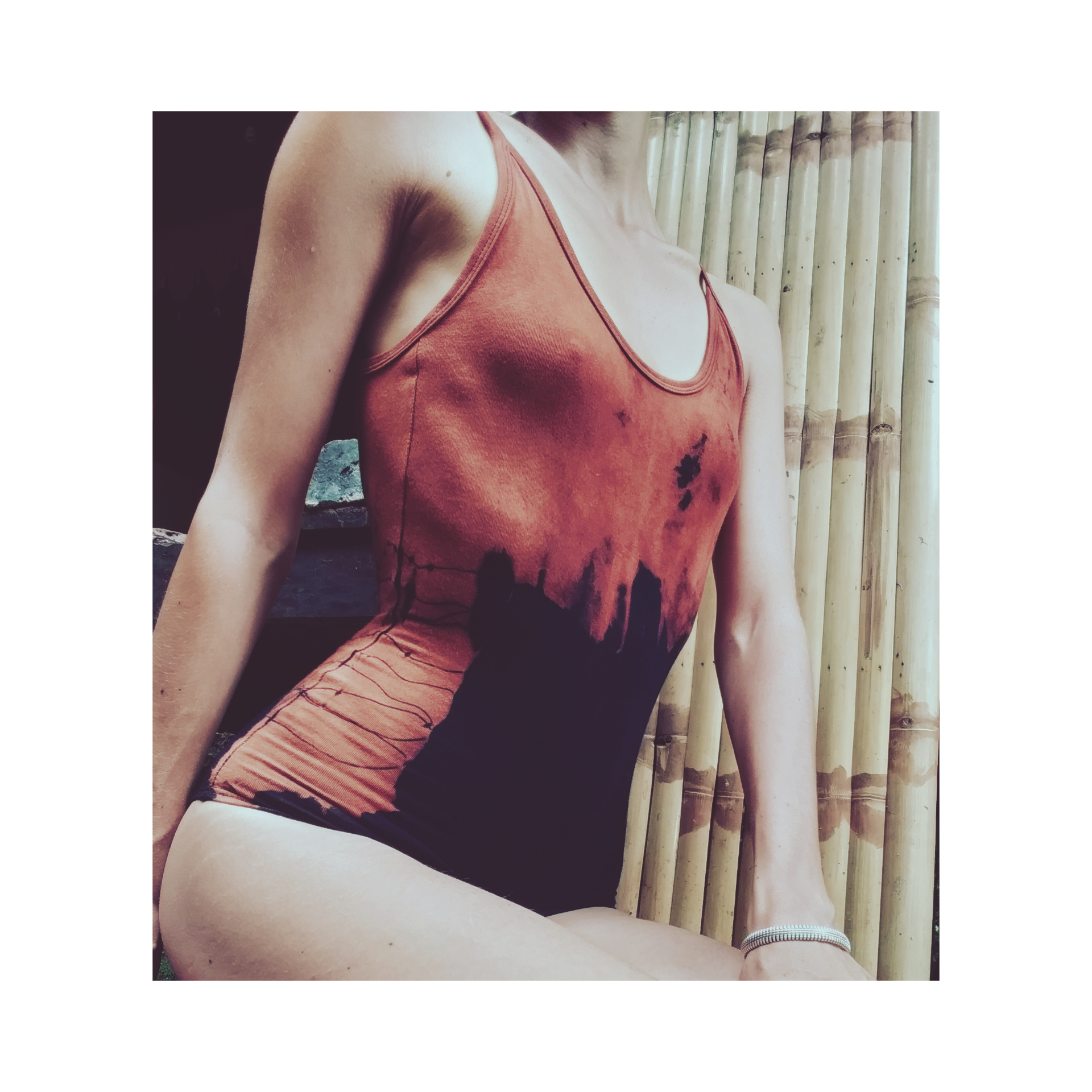Abstract Cage Body suit black