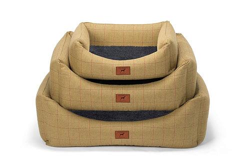 Tweed Dog Bed (Grey Wool Topper)