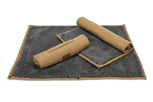 Tweed Roll Up Dog Mat (Grey Topper)