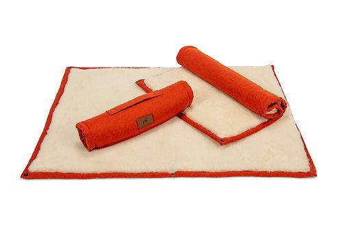 Fire Orange Roll Up Dog Mat
