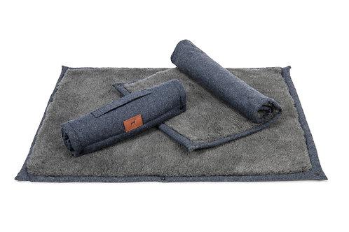 Cobalt Blue Roll Up Dog Mat (Grey Topper)