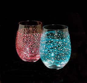 Coming Soon... Hand Painted Stemless glasses