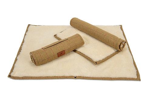 Tweed Roll Up Dog Mat