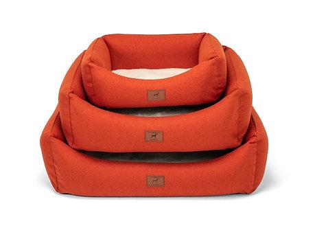 Fire Orange Dog Bed