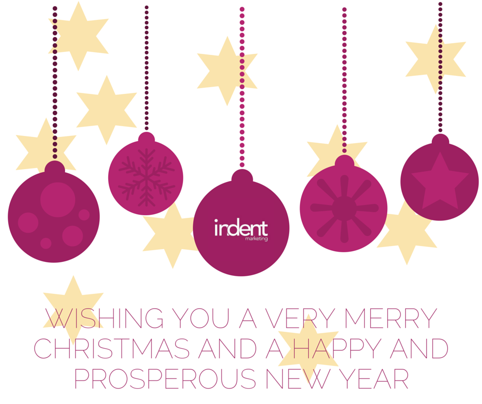 Merry Christmas from Indent Marketing - providing outsourced marketing and social media solutions