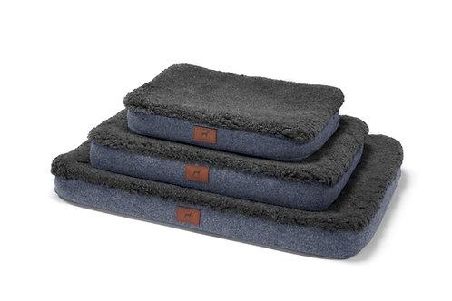 Cobalt Blue Dog Mat (Grey Wool Topper)
