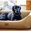 Thumbnail: Tweed Dog Bed (Grey Wool Topper)