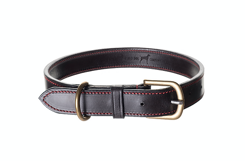 Dark Brown Leather Dog Collar