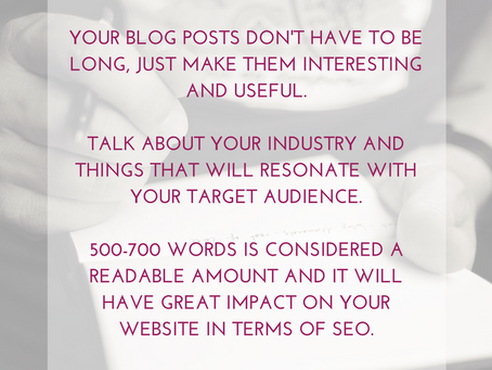 Fill your website with new content: Start a blog!